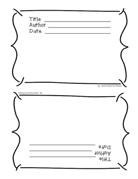 3rd Grade Weekly Reading Journal with Award Certificates