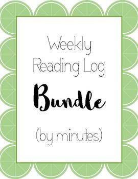 Weekly Reading Log Bundle (by minutes)