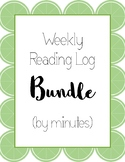 Weekly Reading Log Bundle (by minutes)