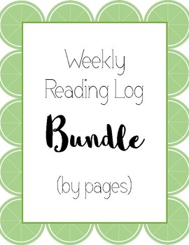 Weekly Reading Log Bundle (by pages)
