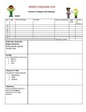Weekly Reading Log: Character Analysis (pdf)