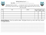 Weekly Reading Log English/Spanish