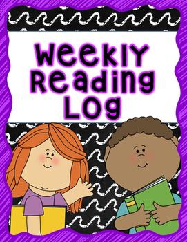 Weekly Reading Log Free Printable