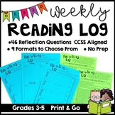 Reading Log and Response ~ Common Core Aligned