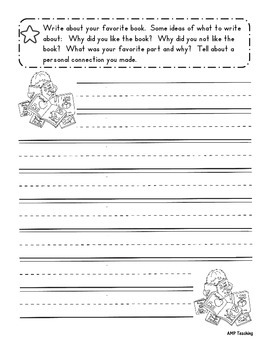 Weekly Reading Log and Book Report Form With Rubric