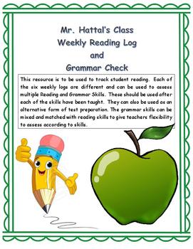 Weekly Reading Log and Grammar Check