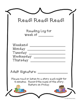 1st Grade Weekly Reading Log with Award Certificates