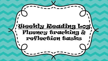 Weekly Reading Log with Reflection Activities