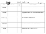 Weekly Reading Log - with response questions