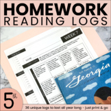 Weekly Reading Logs   ENTIRE YEAR OF HOMEWORK   5th