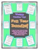 Weekly Reading Logs FULL YEAR BUNDLE