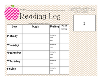 Weekly Reading Logs & Flashcards Journeys Style