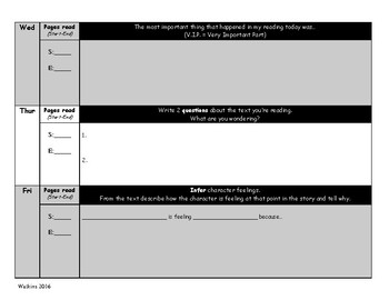 Weekly Genre Based Reading Logs - For Fiction & Non-Fiction Texts