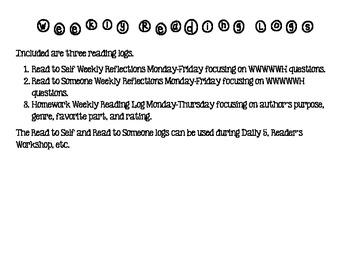 Weekly Reading Logs: RL.2.1