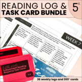 Weekly Reading Logs & Reading Skills Task Cards YEAR-LONG