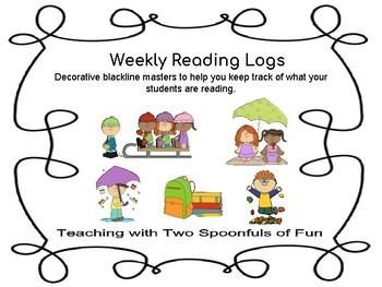 Weekly Reading Logs (Seasonal)