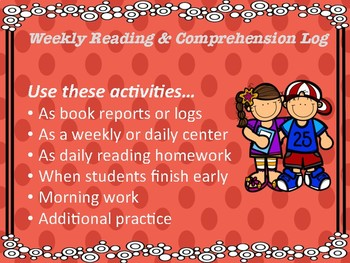 Weekly Reading Logs and Comprehension