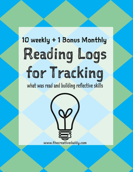 Weekly Reading Logs for Tracking Student Reading & Thinking