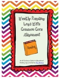 Weekly Reading Logs with Common Core Alignment (Grade 5)
