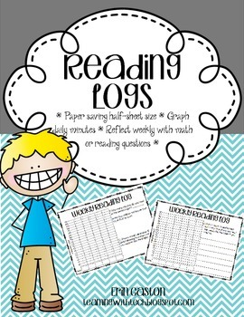 Weekly Reading Logs with Graph and Math or Reading Questions!
