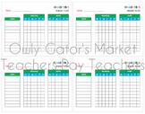 Weekly Reading & Math Homework Tracking Chart Bundle - Stu