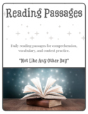 Weekly Reading Passage Reading Comprehension Writing ELL R