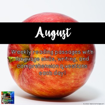 Weekly Reading Passages for August