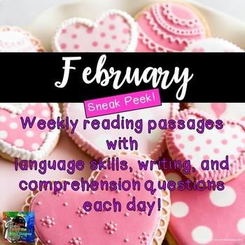 Weekly Reading Passages for February SNEAK PEEK!