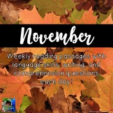 Weekly Reading Passages for November
