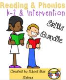 Reading & Phonics Skills Bundle K-2 & Intervention
