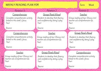Weekly Reading Plan