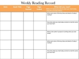 Weekly Reading Record- Core/ Close Reading