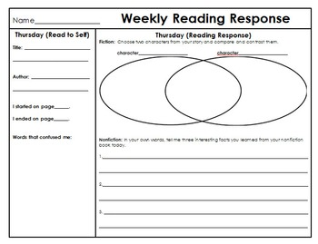 Weekly Reading Response