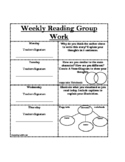 Weekly Reading Response Group Work
