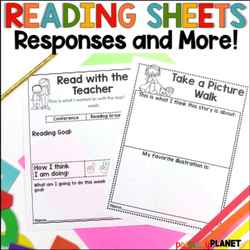 Reading Response Journals or Worksheets for Reading Comprehension