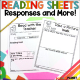 Reading Response Journals   Reading Comprehension Sheets