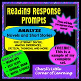 Reading Response Prompts Freebie