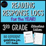 ENTIRE YEAR of Reading Response Logs / Homework for 3rd Grade for ANY Book