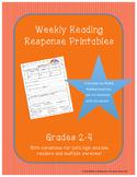 Weekly Reading Response Printables