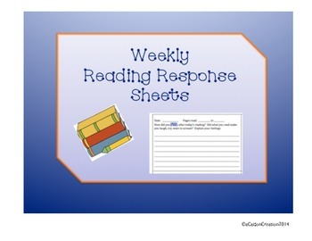 Weekly Reading Response Sheets  Week 3 & 4