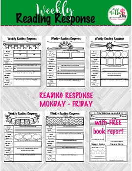 Weekly Reading Response with FREE Book Report