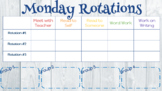 Weekly Reading Rotations (ELECTRONIC)