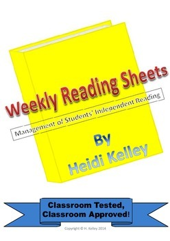 Weekly Reading Sheets for Independent Reading