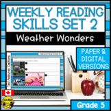 Weekly Reading Comprehension Skills | Weather Wonders Bundle