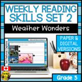 Weekly Reading Comprehension Skills   Weather Wonders Bundle