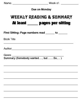 Weekly Reading Summaries: No More Hassle!