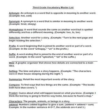 Weekly Reading and Math Academic Vocabulary BUNDLE (FREEBIE)