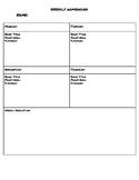 Weekly Reading and Math Homework Log