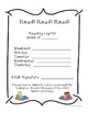 Kindergarten and 1st Grade Weekly Reading Log with Award C