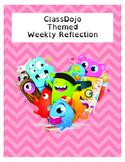 ClassDojo Themed Weekly Reflection
